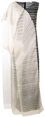 Chalayan organza stripe dress