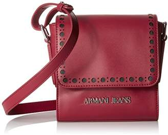 Armani Jeans Eco Leather Square Crossbody with Perforated Details