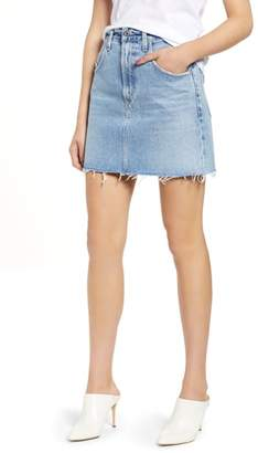 A Gold E AGOLDE Palmer High Waist Denim Mini Skirt