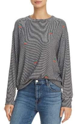 Sundry Cherries Striped Sweatshirt