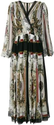 Dolce & Gabbana draped printed dress