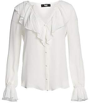 Paige Women's Caprina Ruffle Blouse