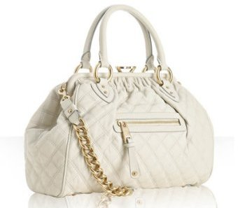 Marc Jacobs ivory quilted leather 'Stam' kisslock medium bag