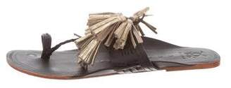 Figue Leather Tassel Sandals