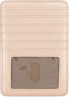 Neiman Marcus Saffiano Leather Short Card Organizer Case