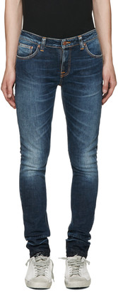Nudie Jeans Blue Skinny Lin Jeans $230 thestylecure.com