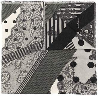 Pierre Louis Mascia Pierre-Louis Mascia mixed pattern scarf
