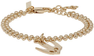 McQ Gold Ball Chain Swallow Bracelet