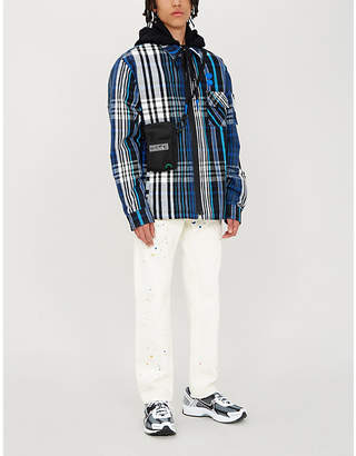 Off-White Checked cotton-blend flannel jacket