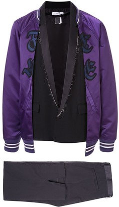 Facetasm two-layer bomber jacket