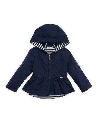 Mayoral Hooded Peplum Wind-Block Jacket, Size 12-36 Months