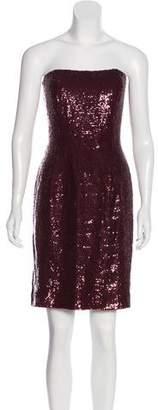Oscar de la Renta Sequined Silk Dress