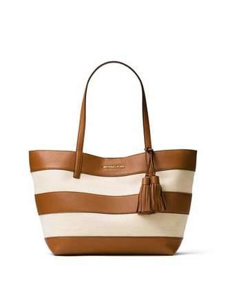 MICHAEL Michael Kors Large Striped Canvas Tote Bag $298 thestylecure.com