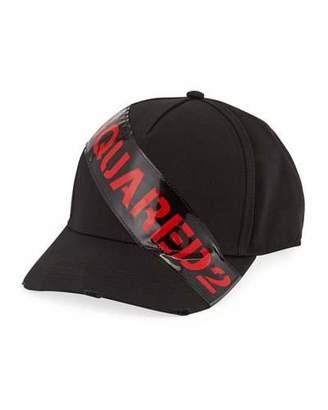 31d64224 DSQUARED2 Men's Logo-Trim Gabardine Baseball Cap, Black