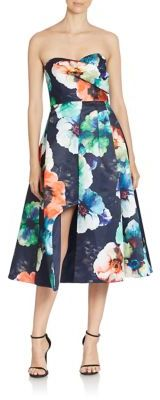 Black Halo Caine Floral Print Cocktail Dress $650 thestylecure.com