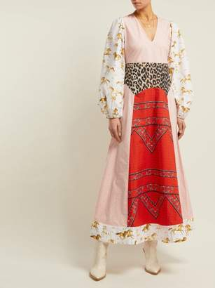 Ganni Sweeney Printed Cotton Maxi Dress - Womens - White Multi