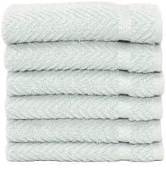 Herringbone Turkish Cotton Washcloths/Set of 6