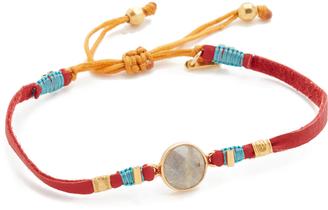 Chan Luu Labradorite Pull Tie Leather Bracelet $60 thestylecure.com