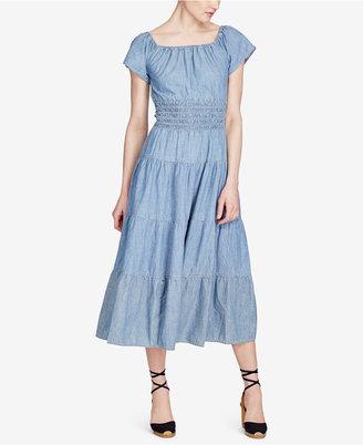 Lauren Ralph Lauren Off-The-Shoulder Cotton Midi Dress $125 thestylecure.com