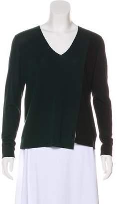 Akris Punto Color-Block Wool Top