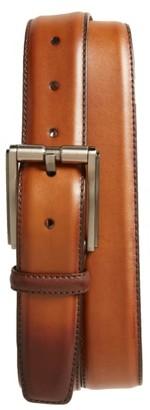 Men's Magnanni Buterlight Leather Belt $150 thestylecure.com
