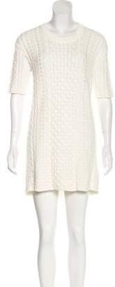 Burberry Mini Cable-Knit Dress
