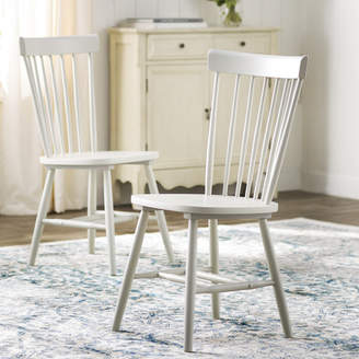 Lark Manor Saint-Pierre Solid Wood Dining Chair