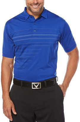 Callaway Ventilated Pixelated Print Polo