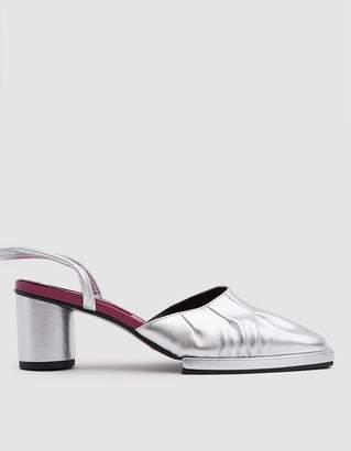 Reike Nen Mandoo Ankle Strap Mule in Silver