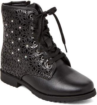 Rachel Kids Girls) Black Belle Laser Cut Boots