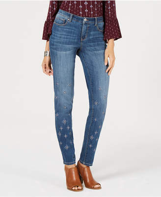 Style&Co. Style & Co Embroidered Skinny Jeans