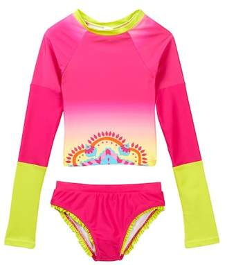 Limeapple Lux Rash Guard Set (Toddler Girls)