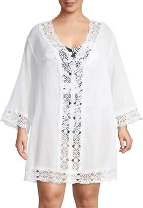 La Blanca Plus V-Neck Cover-Up Tunic
