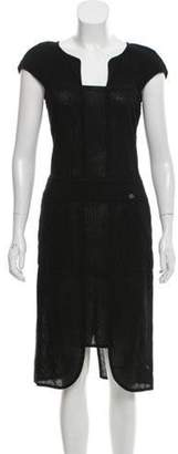 Chanel Midi Sheath Dress Black Midi Sheath Dress