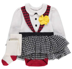 George Traditional Welsh Tutu Bodysuit and Tights Outfit