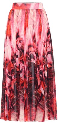 Alexander McQueen Butterfly-printed crepe skirt
