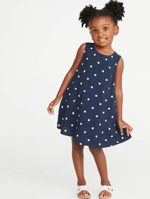 Old Navy Printed Sleeveless Swing Dress for Toddler Girls