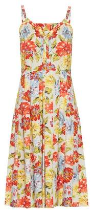 Emilia Wickstead Juliet Floral Print Dress - Womens - White Multi