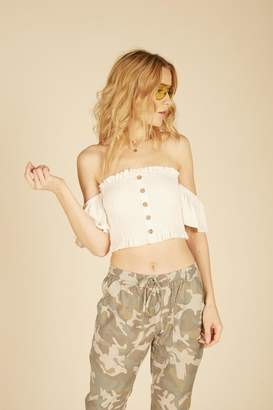 Vintage Havana Off-The Shoulder Crop-Top