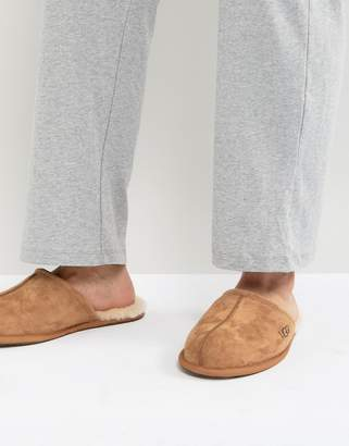 UGG Scuff Suede Mule Slippers In Chestnut