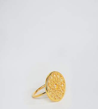 Ottoman Hands gold plated chakra ring