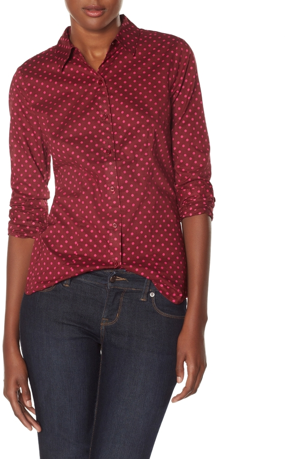 The Limited Patterned Button Down Shirt