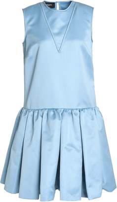 Rochas Pleated Duchesse-satin Dress