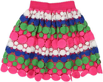 Billieblush Long Multicolored Lace Overlay Skirt Size 4-12