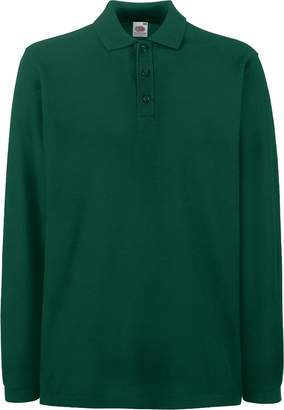Fruit of the Loom Mens Premium Long Sleeve Polo Shirt (3XL)