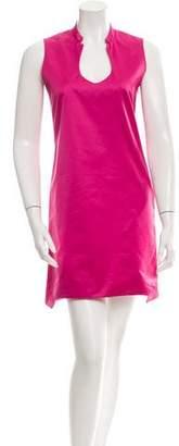 Saint Laurent Satin Sleeveless Dress