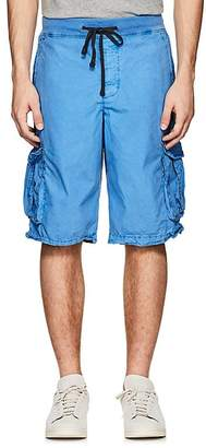 James Perse MEN'S WASHED COTTON CARGO SHORTS
