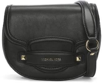 At Daniel Footwear Michael Kors Small Cary Black Leather Saddle Bag
