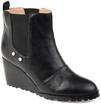 Journee Collection Womens Jc Jessie Booties Pull-on Wedge Heel