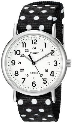 Timex - Weekender Reversible Nylon Slip-Thru Strap Watches $52 thestylecure.com